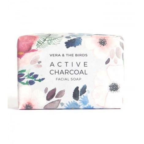 Vera And The Birds - Jabón facial sólido Active Charcoal