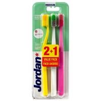 Jordan - Clean Smile - Cepillo dental pack 3 - Medio