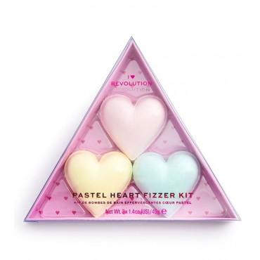 I Heart Revolution - Set de bombas de baño Pastel Heart Fizzer