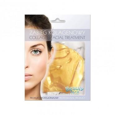 Beauty Face - Mascarilla de colágeno antiarrugas - Oro 24K y Ácido Hialurónico