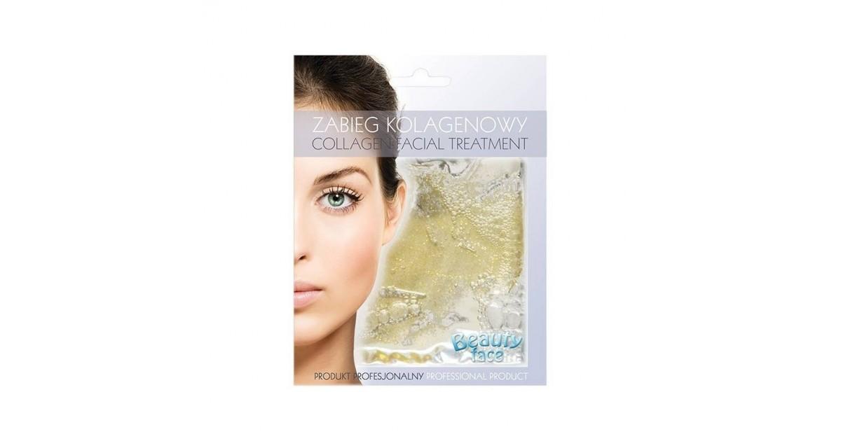 Beauty Face - Mascarilla de colágeno rejuvenecedora y mejora de la circulación - Polvo de Oro