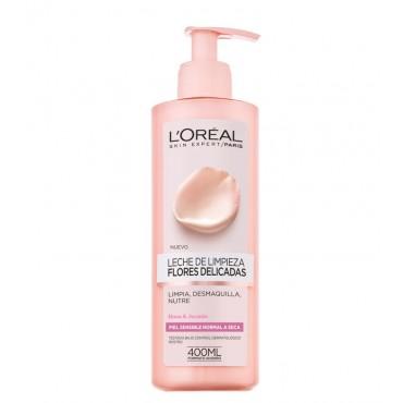 L'Oreal - FLORES DELICADAS - Leche de limpieza - Piel sensible/seca