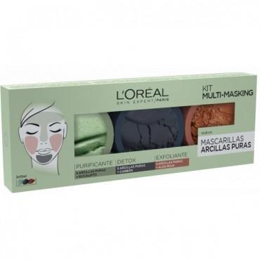 L'Oreal - Arcillas Puras - Kit Multi-Masking - Lote 3 Mascarillas (3x10ml)