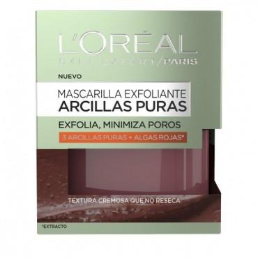 L'Oreal - Arcillas Puras - Mascarilla Exfoliante con Algas Rojas - 50ml