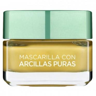 L'Oreal - Arcillas Puras - Mascarilla Iluminadora con Limón Yuzu - 50 ml