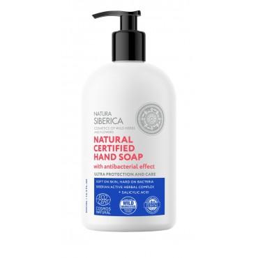 Natura Sibérica - Jabón de Manos Natural Certificado Efecto Higienizante - 500ml