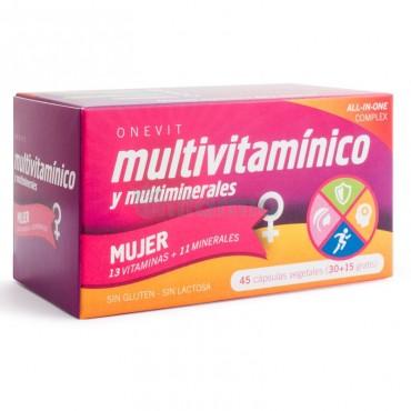 ONEVIT - Multivitamínico - Mujer - 45 cápsulas