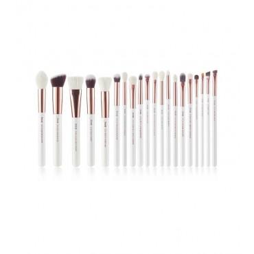 Jessup Beauty - Set de brochas 20 piezas - T225: White/Rose Gold