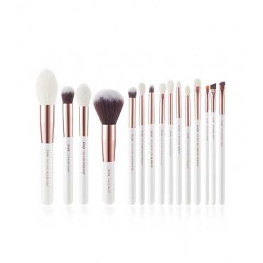 Jessup Beauty - Set de brochas 15 piezas - T222: White/Rose Gold