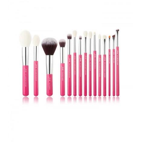 Jessup Beauty - Set de brochas 15 piezas - T202: Rose Carmin/Silver