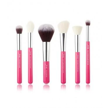 Jessup Beauty - Set de brochas 6 piezas - T204: Rose Carmin/Silver