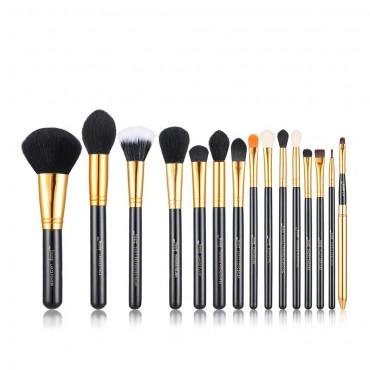 Jessup Beauty - Set de brochas 15 piezas - T093: Black/Gold