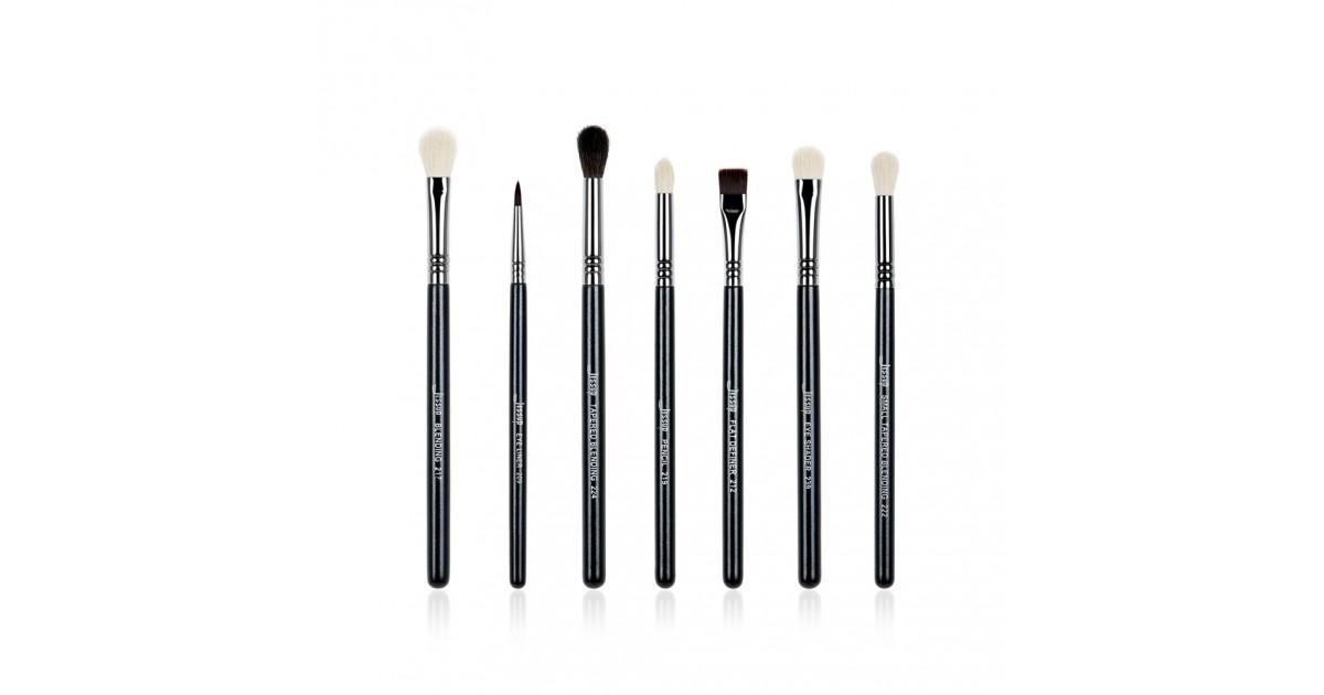 Jessup Beauty - Set de pinceles 7 piezas - T077: Black/Silver