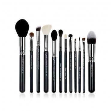 Jessup Beauty - Set de brochas 12 piezas - T128: Black/Silver