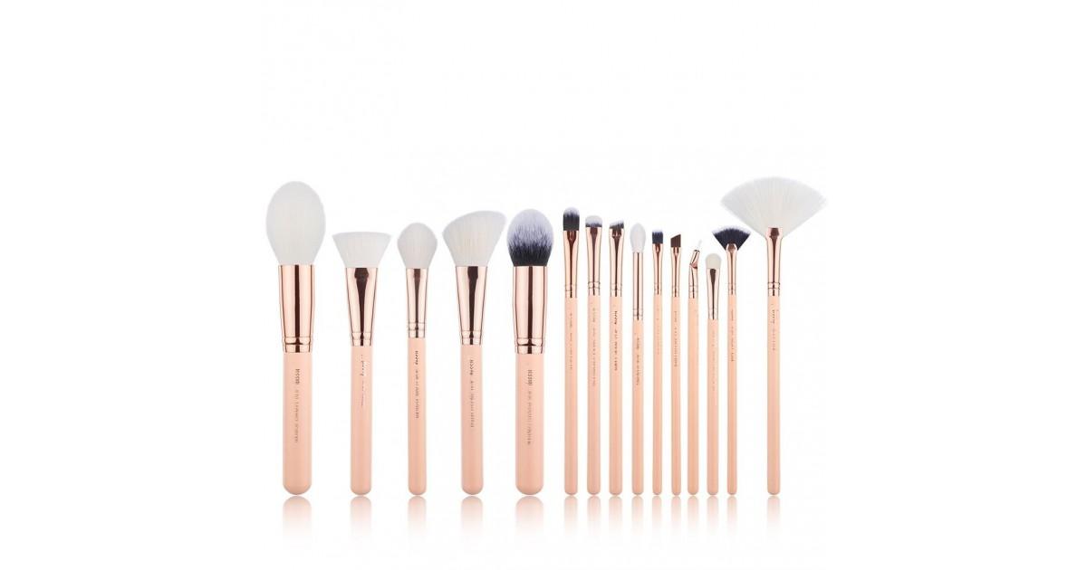 Jessup Beauty - Set de brochas 20 piezas - T443: Peach Puff/Rose Gold