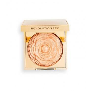 Revolution Pro - Iluminador en polvo Lustre Highlighter - Golden Rose