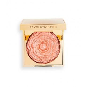 Revolution Pro - Iluminador en polvo Lustre Highlighter - Rose Gold