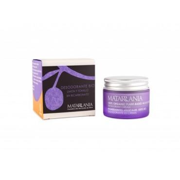 Matarrania - 100% Bio - Desodorante en crema sin bicarbonato y sin aluminio