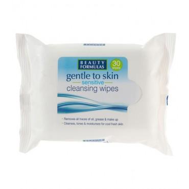 Beauty Formulas - Gentle to Skin piel sensible - Toallitas limpiadoras - 30uds