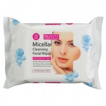 Beauty Formulas - Toallitas para piel sensible - Micelares