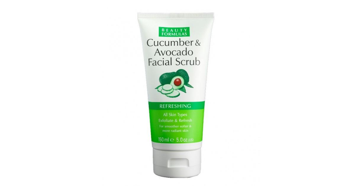 Beauty Formulas - Exfoliante Facial de Pepino y Aguacate - Refrescante