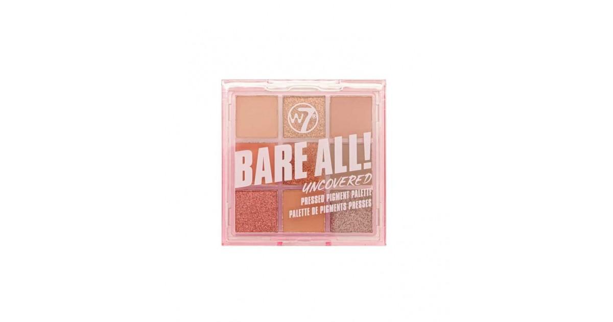 W7 - Paleta de pigmentos prensados Bare All - Uncovered