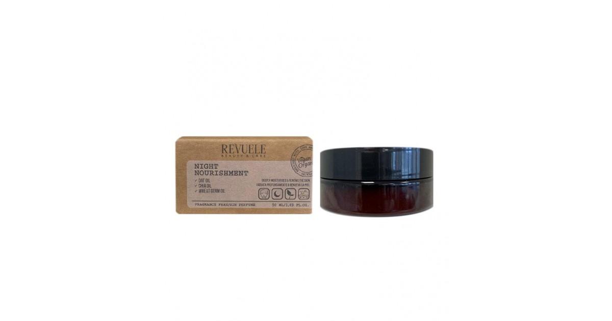Revuele - Vegan & Organic - Crema nutritiva de noche diaria