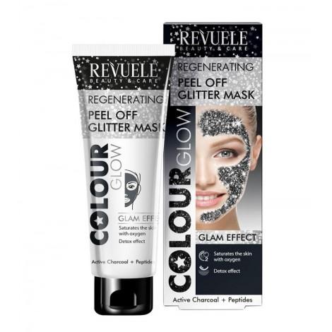 Revuele - Color glow - Mascarilla Glitter Peel-off - Regeneradora - 80ml