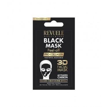 Revuele - Mascarilla negra de carbón activo Peel-off - Pro-colágeno - 7ml