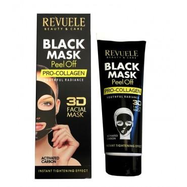 Revuele - Mascarilla negra de carbón activo Peel-off - Pro-colágeno - 80ml