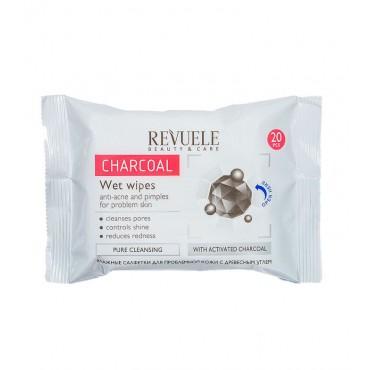 Revuele - Toallitas desmaquillantes con carbón activo - 80ml