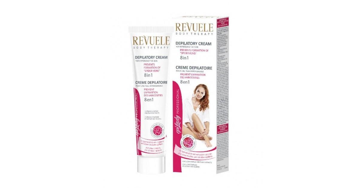 Revuele - Crema depilatoria para pieles sensibles 8 en 1 - 125ml