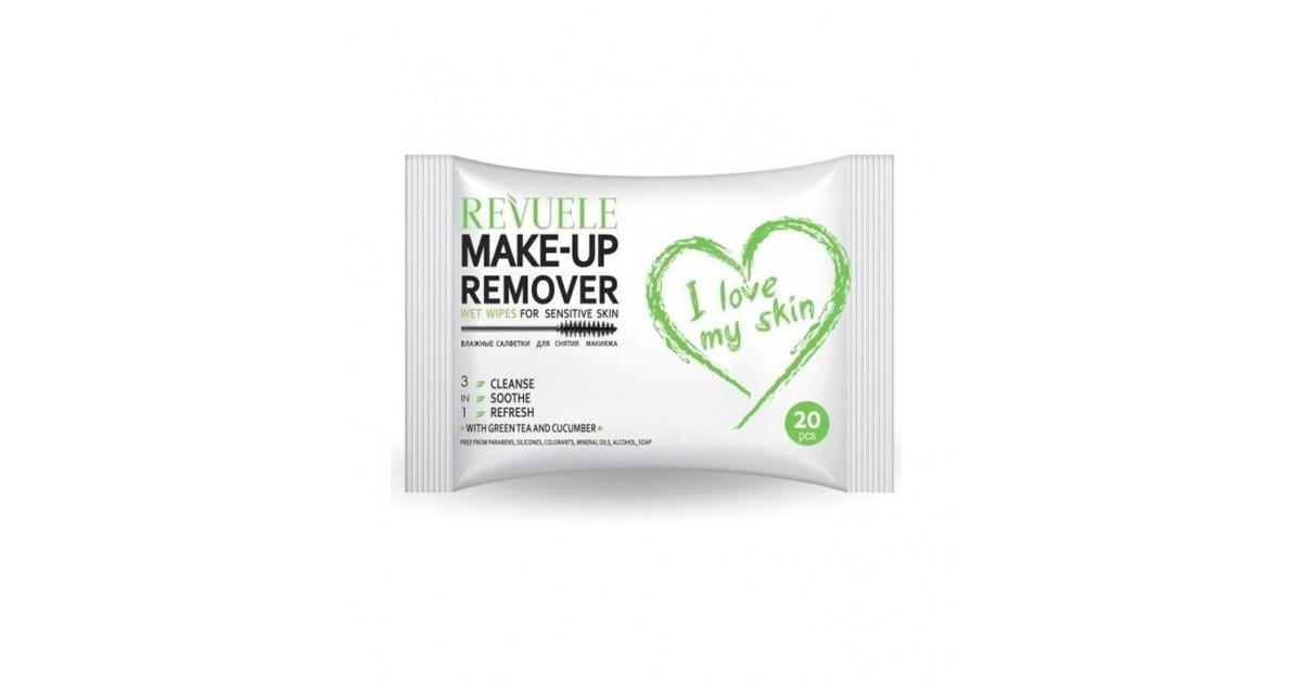 Revuele - I love my skin - Toallitas desmaquillantes para pieles sensibles - 20uds.