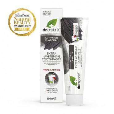 Dr Organic - Pasta de dientes blanqueadora de Carbón Activo