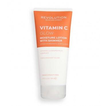 Revolution Skincare - Loción hidratante corporal con vitamina C - Glow Shimmer
