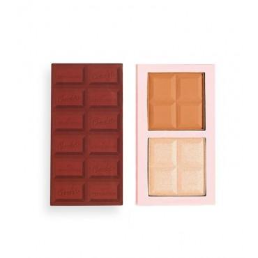 I Heart Revolution - Paleta de iluminador y contorno Chocolate Contour - Light