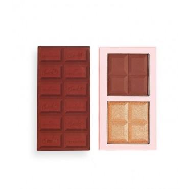 I Heart Revolution - Paleta de iluminador y contorno Chocolate Contour - Dark