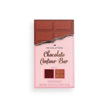 I Heart Revolution - Paleta de iluminador y contorno Chocolate Contour - Medium