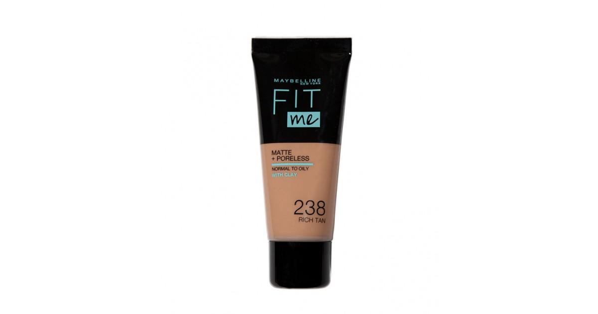 Maybelline - Base de Maquillaje Fit Me Matte + Poreless - 238: Rich Tan