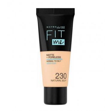Maybelline - Base de Maquillaje Fit Me Matte + Poreless -...