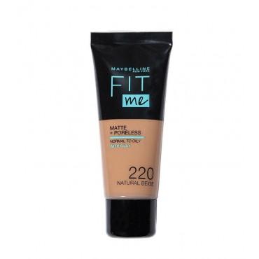 Maybelline - Base de Maquillaje Fit Me Matte + Poreless - 220: Natural Beige
