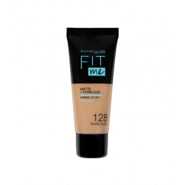 Maybelline - Base de Maquillaje Fit Me Matte + Poreless - 128: Warm Nude