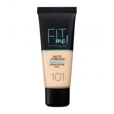 Maybelline - Base de Maquillaje Fit Me Matte + Poreless - 101: True Ivory