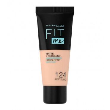 Maybelline - Base de Maquillaje Fit Me Matte + Poreless - 124: Soft Sand