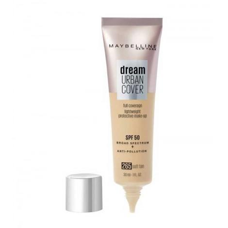 Maybelline - Base de maquillaje SPF50 Dream Urban Cover - 265: Soft Tan