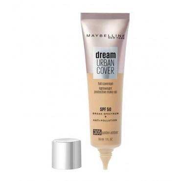 Maybelline - Base de maquillaje SPF50 Dream Urban Cover - 305: Golden Amber