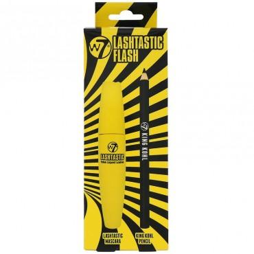 W7 - Lashtastic Flash - Pack máscara de pestañas y lápiz delineador