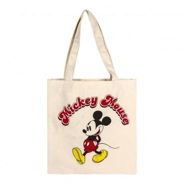 Disney - Mickey - Bolsa de asas de algodón