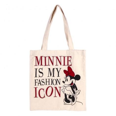 Disney - Minnie - Bolsa de asas de algodón