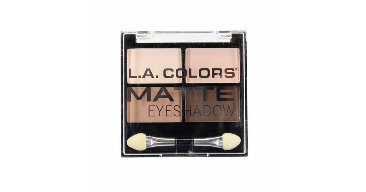 L.A. Colors - Paleta de sombras de ojos Matte - Mattifying